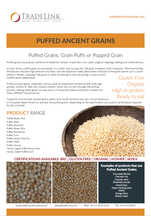 Puffed Grains Brochure